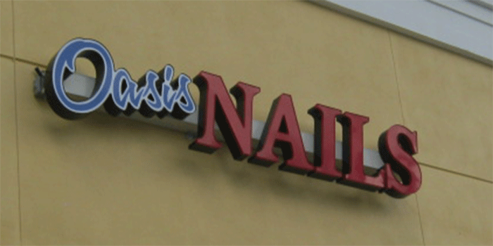 Nail Salon   Channel Letters Sign